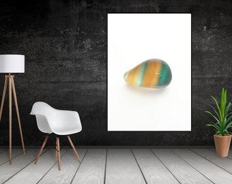 Art Print of Seaham SeaGlass - Green & Gold Multi - PP9 - From Seaham England
