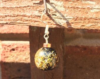 Big Gold Glitter Drop Earrings