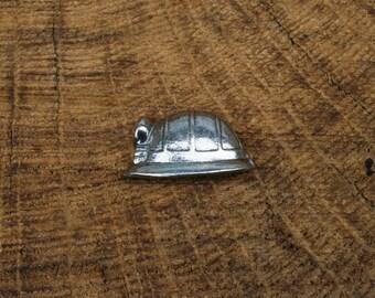 Miners Helmet Pin Brooch Badge Pewter Miners Gift
