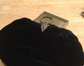Velvet clutch purse