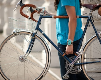 """Bicycle Frame Handle - The """"Little Lifter"""" - Leather Bike Handle"""