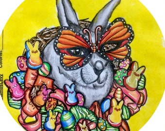Coloring Book for Adults , Easter, eggs, candies