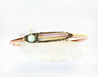 Opal Bracelet, Raw Opal Bracelet, Opal Bracelet Gold, Opal Bracelet Silver, Genuine Opal Bracelet, Opal Bracelet Cuff, Raw Opal Jewelry