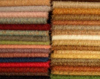 MV. vous chercher propres 5 couleurs de mohair SCHULTE, pile 15 mm, 5 x 25cm / 35cm = environ 5 x 1/16