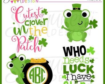 St patricks clipart, irish clipart, monogram clipart, lettering clipart, frog clipart, spring clipart, st patrick clipart, instant download