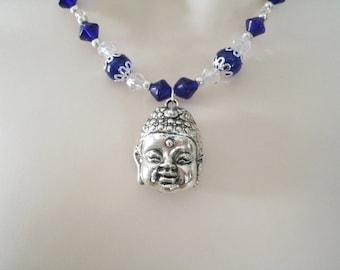 Buddha Necklace, buddhist jewelry buddha jewelry buddhism jewelry boho jewelry zen new age boho necklace hippie necklace bohemian necklace