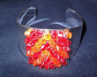 Large silver cuff bracelet 0045FB