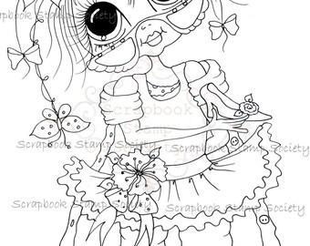 INSTANT DOWNLOAD Digital Digi Stamps Big Eye Big Head Dolls Messy Bessy IMG824 My Besties By Sherri Baldy