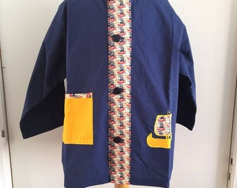 Boy 4t cotton and Liberty blouse