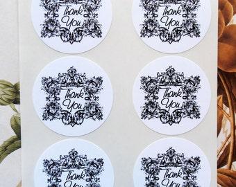Sticker Thank You Envelope Seals Wedding Party Favor Treat Bag Sticker SP022