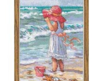 Cross Stitch Kit -  Girl at Beach