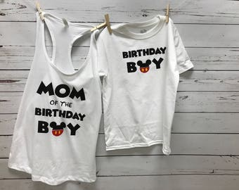Mickey Birthday Boy, Birthday Boy, Mickey Birthday Top, Mickey Shirt, Birthday Boy Shirt, Mickey Mouse Shirt, Mickey Shirt, tops, boy