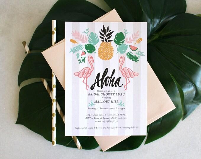 PRINTABLE Bridal Shower Invitation | Retro Luau
