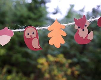 Fall Critter mini party banner