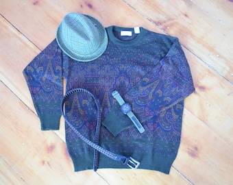Vintage Fairisle Wool Sweater | Lord & Taylor | XL