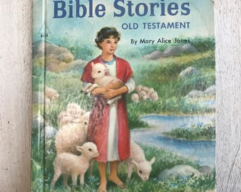 Vintage Children's Book // Bible Stories, Old Testament by Mary Alice Jones // 1954