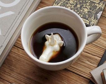 Unicorn Mug by CREATURE CUPS | Hidden Magical Unicorn | Unicorn Horse Coffee Mug | Holiday and Birthday Gift for Coffee & Tea