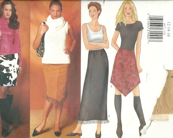 Butterick  6672       Misses/Petite Skirts in Four Variations    Size 12,14,16     Uncut