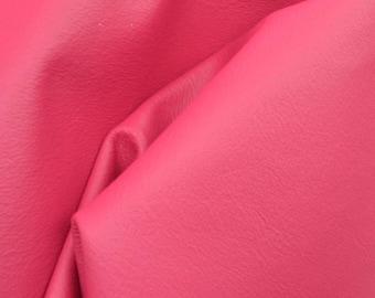 "Tropical Hibiscus Pink ""Bold & Beachy"" Leather Cow Hide 4""x 6"" Pre-Cut 2-3 oz flat grain DE-57312 (Sec. 8,Shelf 6,D,Box 5)"