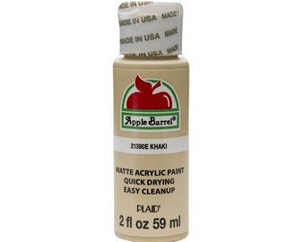 Apple Barrel Acrylic Paint - 2 oz - Khaki