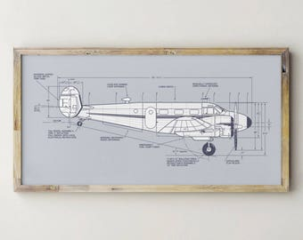 Printable Airplane Decor, Vintage Airplane Decor, Airplane Blueprint, Plane Artwork, Airplane Patent Print, Boy Room Decor, Boy Room Art