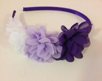 Purple, lavender and white headband