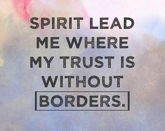 Spirit Lead Me cross stitch pattern