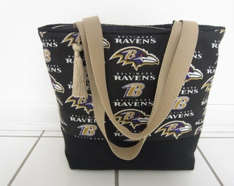 RAVENS Shoulder Bag Sport Hobo NFL Totes Brown  Clutch Handbags