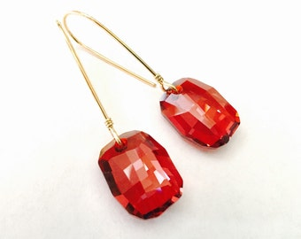 Lorelei Magma Swarovski Earrings