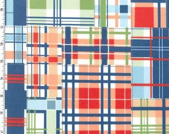 MINKY Fabric - Multi Madras Patch Plaid from Michael Miller Fabrics -  100% Polyester Minky
