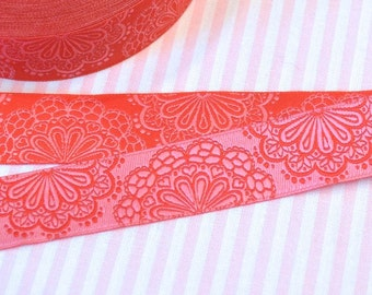 "Ribbon color mix ""SpitzenWerk"" red-pink"