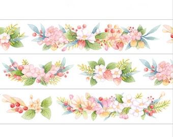 Berries Vine Washi Tape -- Masking Washi Tape -Deco tape--23mm x10M