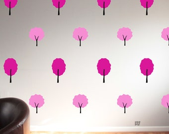 Spring Wall Decals. Seasonal Decor. Tree Decals. Pink Decals. Wall Decal. Seasonal Decals. Home decor decals. Nature Decor.