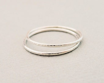 Thin Stackable Rings Sterling Silver Rings thin stack rings midi rings, knuckle rings, thumb rings by bluebirdss on etsy