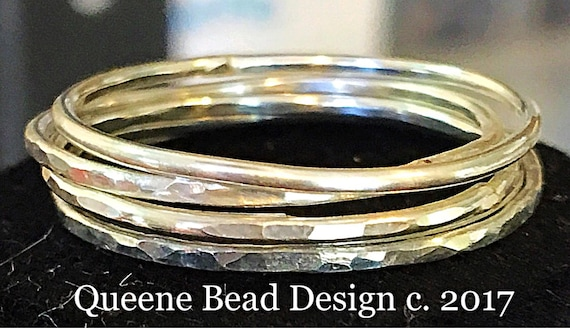 4 Sterling Silver Stackable Soldered Rings #queenebead