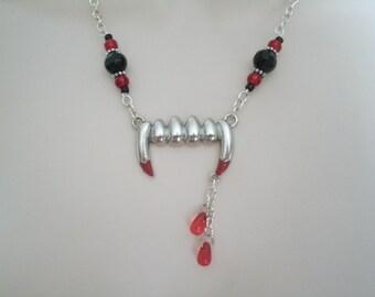 Vampire Necklace, gothic jewelry vampire jewelry rockabilly jewelry goth jewelry steampunk jewelry fantasy jewelry cosplay gothic necklace