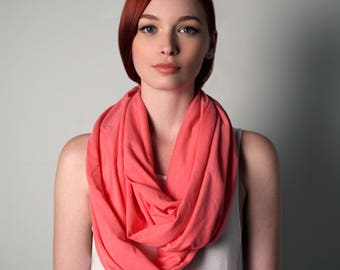 Pink Scarf, Infinity Scarf, Gift for Women, Gift for Mom, Girlfriend Gift, Gift for Wife, Womens Gift, Mom Gift, Girlfriend, Scarf Pink