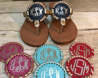 Extra disc for sandals, monogrammed disc for sandals, interchangeable disc for sandals, interchangeable sandal desc