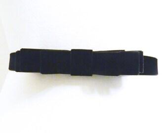 Black Velvet Bow Belt