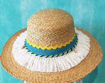 Eco Friendly Hat | Natural Hat | Floppy Hat | Straw Hat | Straw beach hat | Summer hat | Chapeau de paille | Strohhut | Chapeau de plage