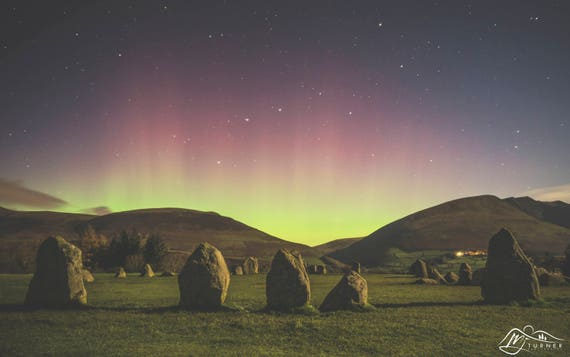 Castlerigg Stone Circle, Aurora Borealis [Photographic Print]