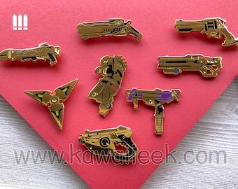 Overwatch Golden Weapon Enamel Pin - BLIND PACK Loot Box- Offense - Doomfist Genji McCree Pharah Reaper Soldier:76 Sombra Tracer