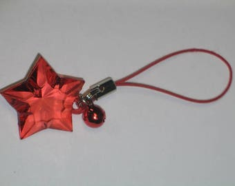 Strikingly Beautiful Red Star to Guide Your Way - Keychain/Cell Charm/Zipper Pull