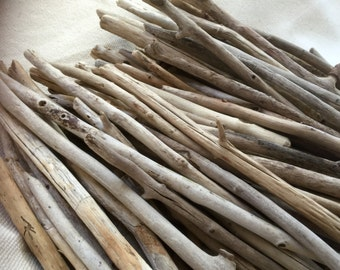 "Bulk Driftwood - QUALITY Straight Maine Driftwood  15PC 12-18"" - lightweight Macrame and Weavings, mobiles, wedding decorations"