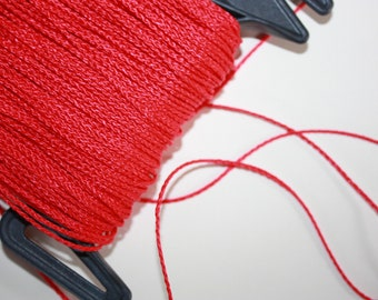 1.5 mm BRAIDED RED Cord = 1 Spool = 110 Yards = 100 Meters of Elegant Polypropylene Rope for Macrame Knitting Sewing Crocheting Thread