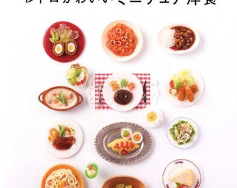 Retro and Cute Miniature Clay Foods - Japanese Craft Book