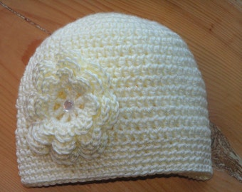 Hat with triple flower trim for infants to adults - Josette Irene