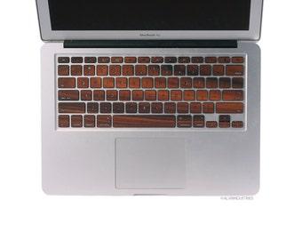 MacBook Wood Keyboard Skin Decal Real Wood Macbook Rosewood Keyboard Skin MacBook Air 11 13 Pro 13 15 Retina 13 15
