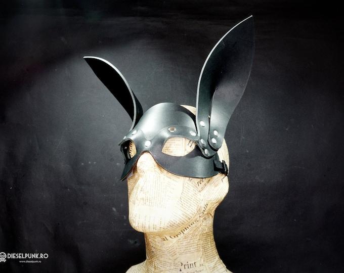 Rabbit Mask - Leather Mask - Cosplay Mask - fetish mask - animal mask
