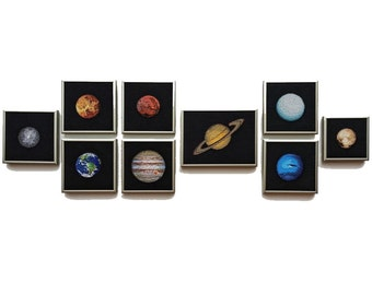 Solar System Planets Cross Stitch Patterns - Set of 9 - PDF Instant Download